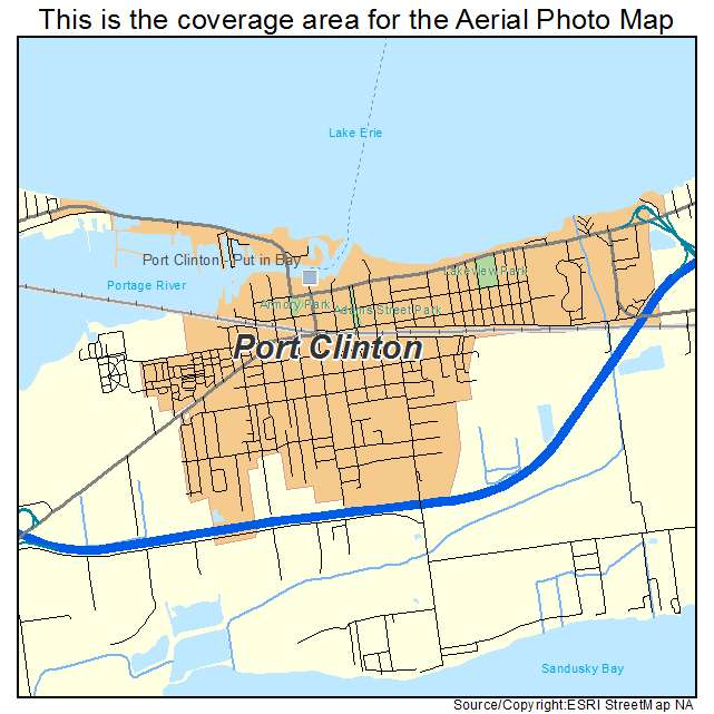 Aerial Photography Map Of Port Clinton Oh Ohio