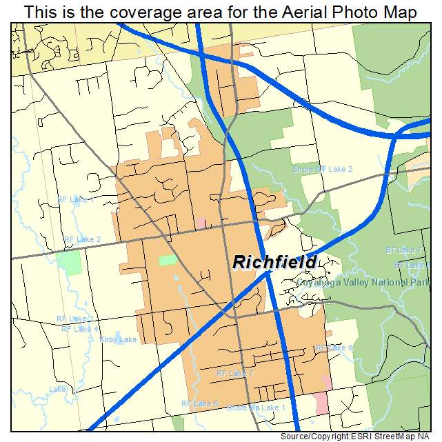 Aerial Photography Map Of Richfield Oh Ohio