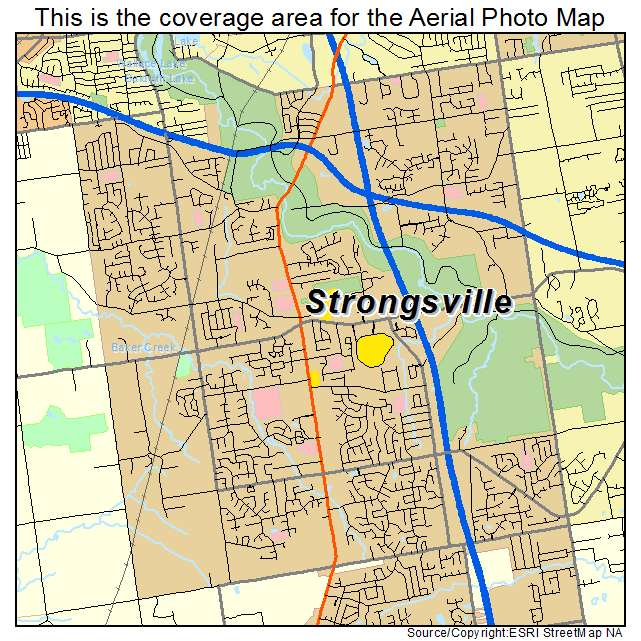 Strongsville Oh Ohio Aerial Photography Map 2015