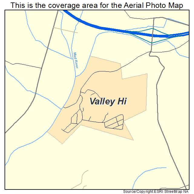 Valley Hi, OH location map
