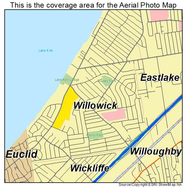 Aerial Photography Map Of Willowick OH Ohio - Ohio on map