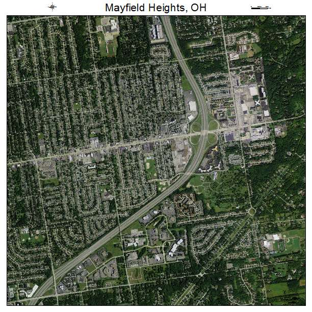 Mayfield Ohio Map.Aerial Photography Map Of Mayfield Heights Oh Ohio