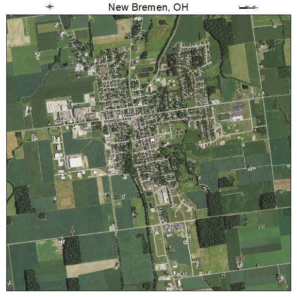Aerial Photography Map Of New Bremen Oh Ohio