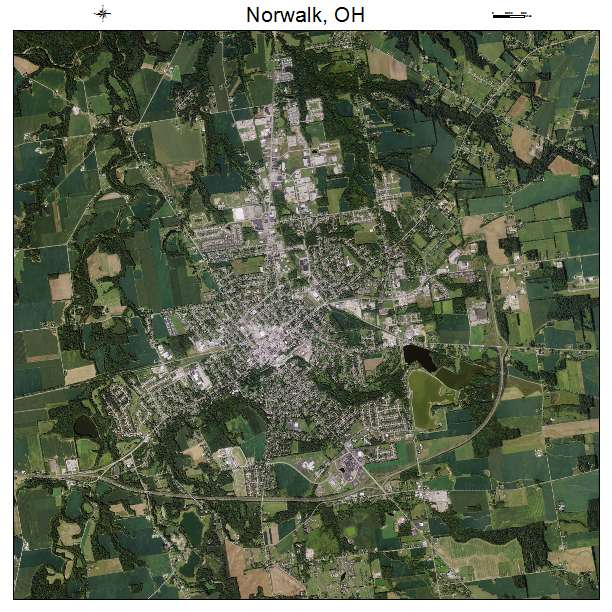 Aerial photography map of norwalk oh ohio norwalk oh air photo map sciox Choice Image