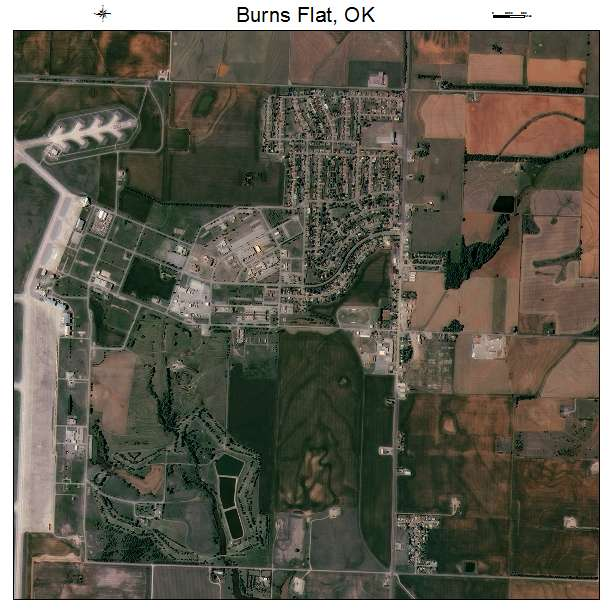 Burns Flat Ok >> Burns Flat Ok Oklahoma Aerial Photography Map 2015