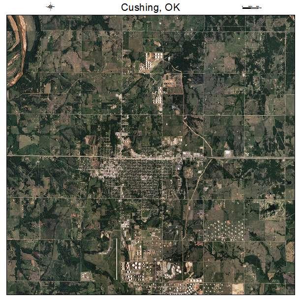 Cushing, OK air photo map