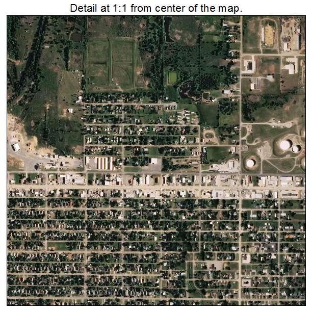 Cushing, Oklahoma aerial imagery detail