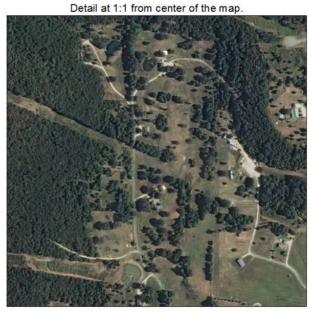 Aerial Photography Map Of Gore Ok Oklahoma