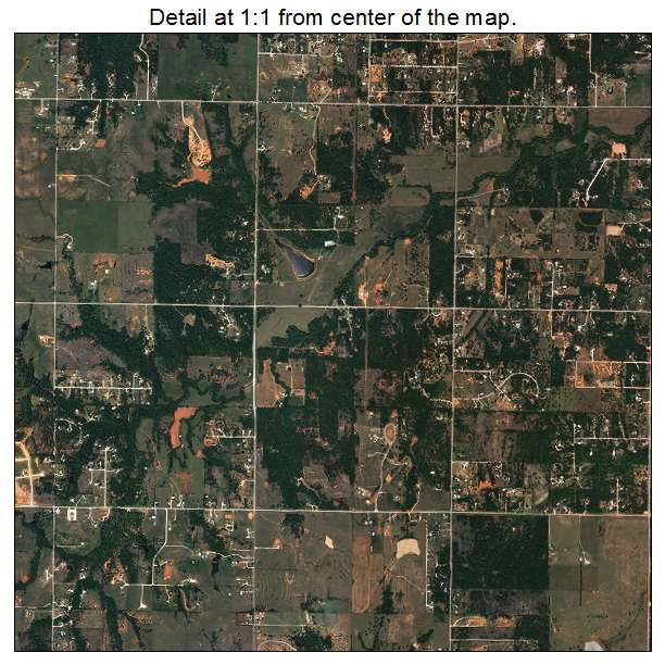 Norman, Oklahoma aerial imagery detail