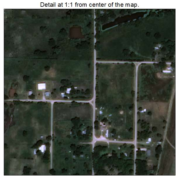 Sugden, Oklahoma aerial imagery detail
