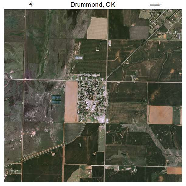 Aerial Photography Map Of Drummond Ok Oklahoma