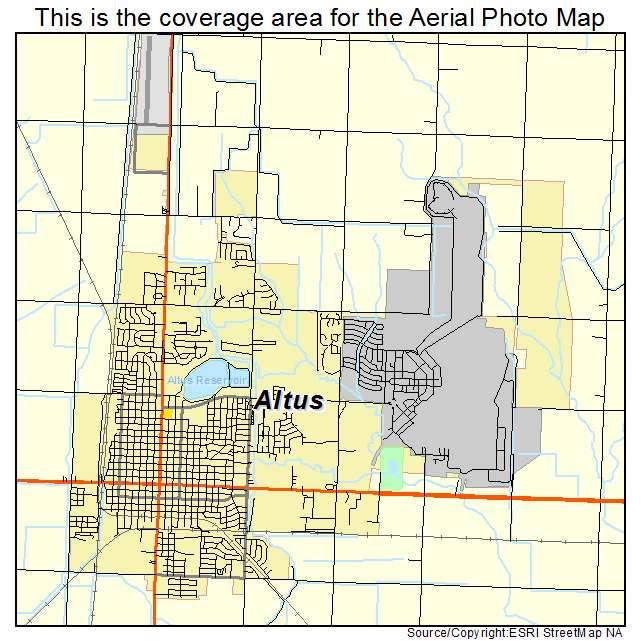 Altus ok map