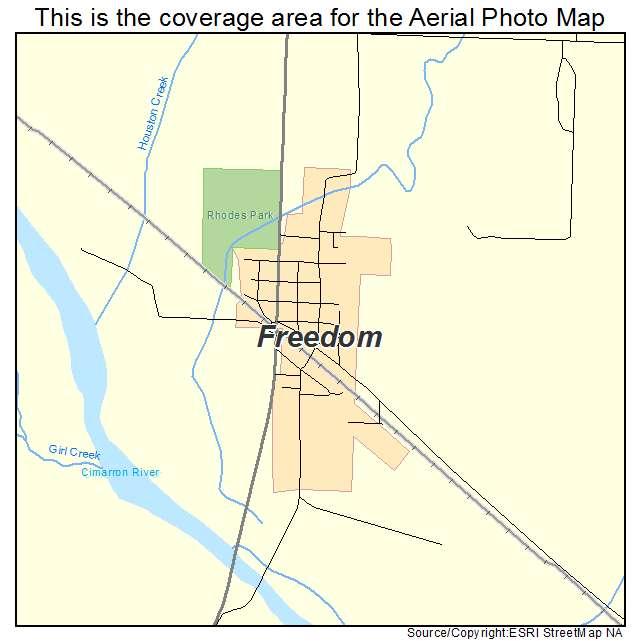 Freedom Oklahoma Map.Aerial Photography Map Of Freedom Ok Oklahoma