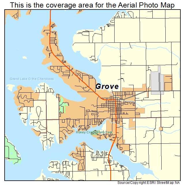 Grove Oklahoma Map.Aerial Photography Map Of Grove Ok Oklahoma