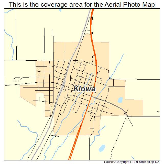 Aerial Photography Map of Kiowa, OK Oklahoma