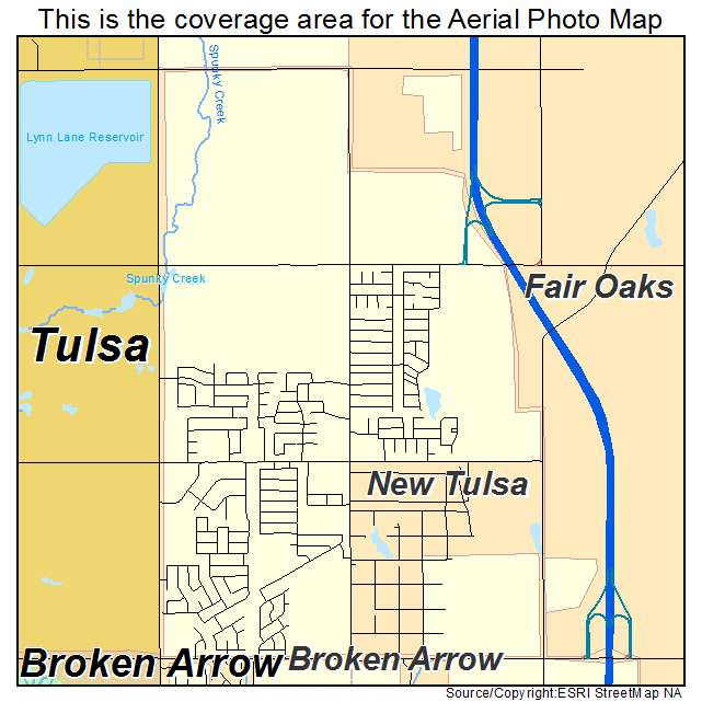 Aerial photography map of new tulsa ok oklahoma New homes tulsa area