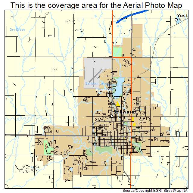 Aerial Photography Map Of Stillwater OK Oklahoma