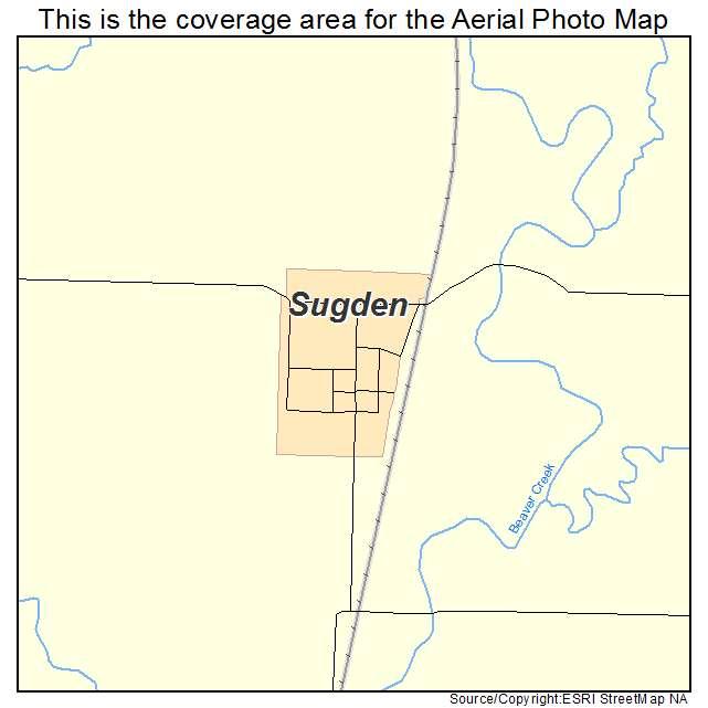 Sugden, OK location map
