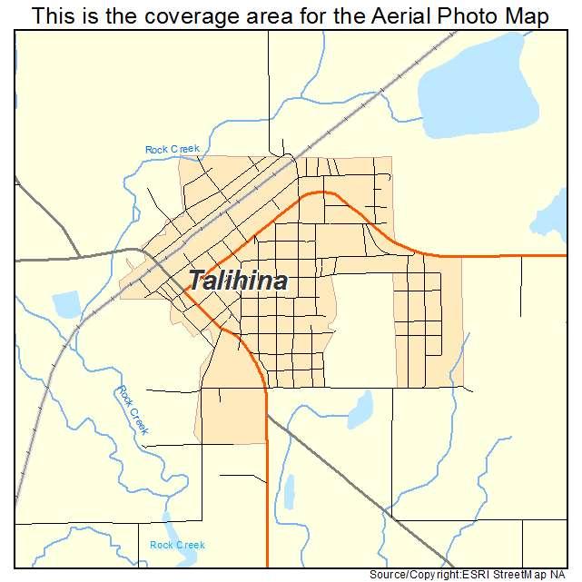 Talihina Oklahoma Map.Aerial Photography Map Of Talihina Ok Oklahoma