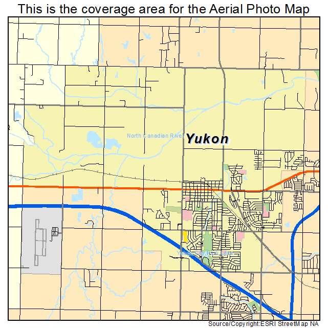 Aerial Photography Map Of Yukon Ok Oklahoma