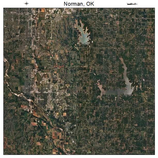 Norman, OK air photo map
