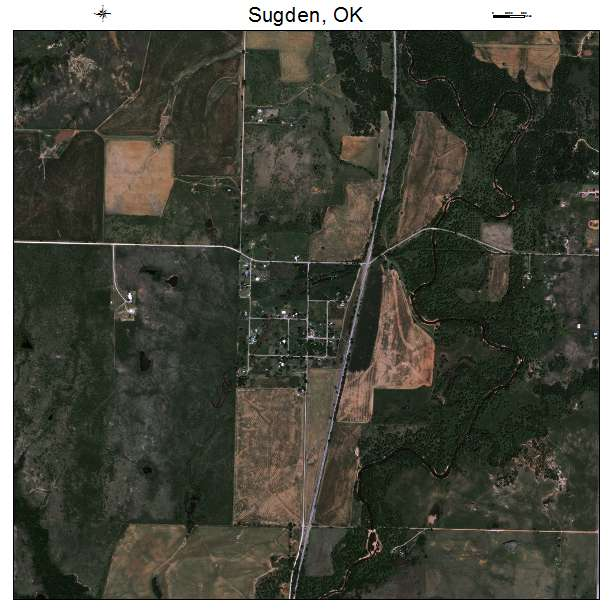 Sugden, OK air photo map