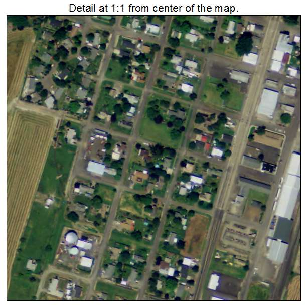 Halsey Oregon Map Aerial Photography Map of Halsey, OR Oregon