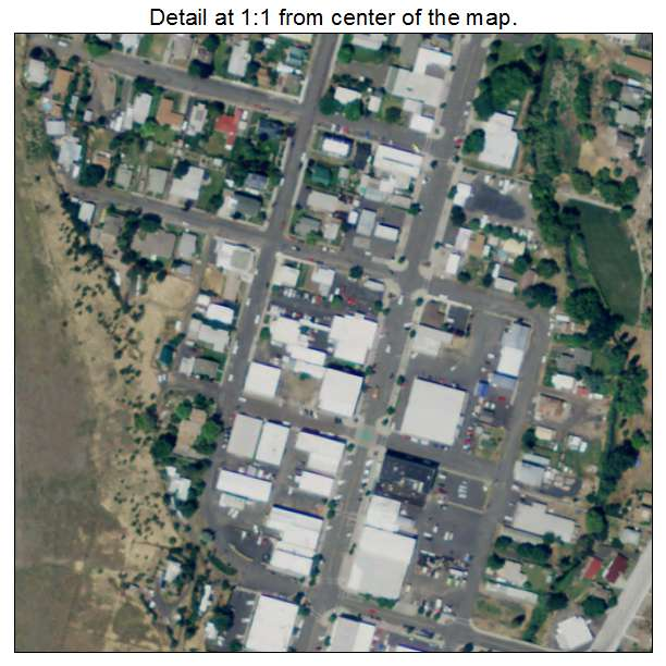 Aerial Photography Map Of Heppner OR Oregon