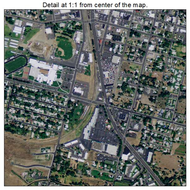Aerial Photography Map Of Hermiston OR Oregon