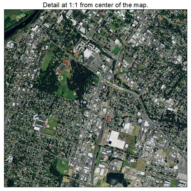 Salem, Oregon aerial imagery detail