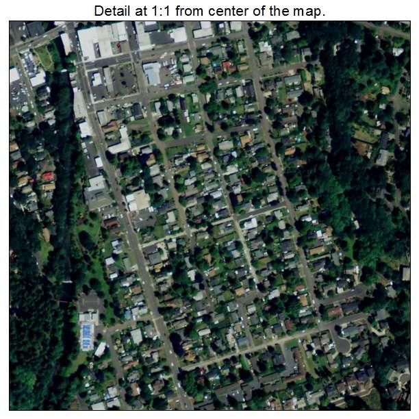 Silverton, Oregon aerial imagery detail