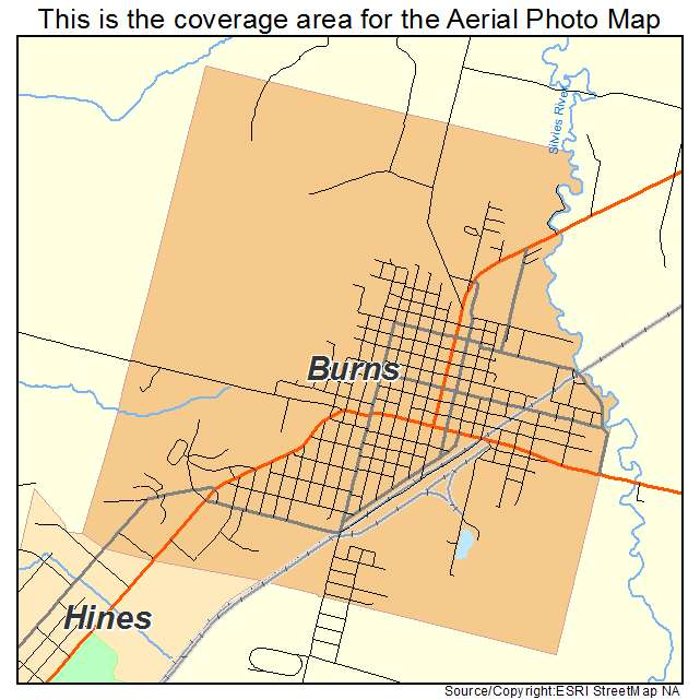 Burns Or Oregon Aerial Photography Map 2014