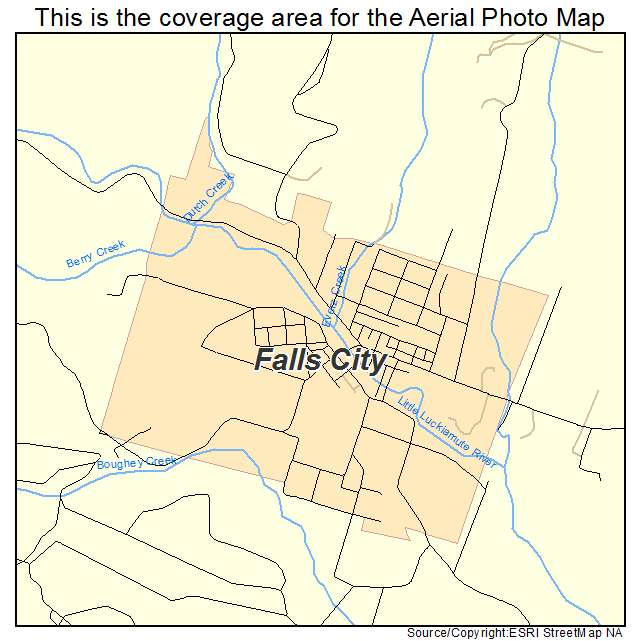 Fall City Oregon Map.Aerial Photography Map Of Falls City Or Oregon