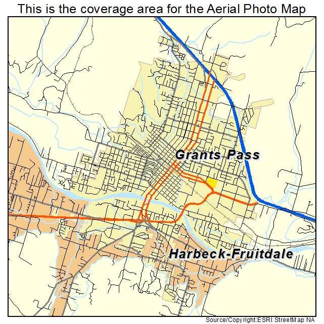 Grants Pass Oregon Map  Bing Images