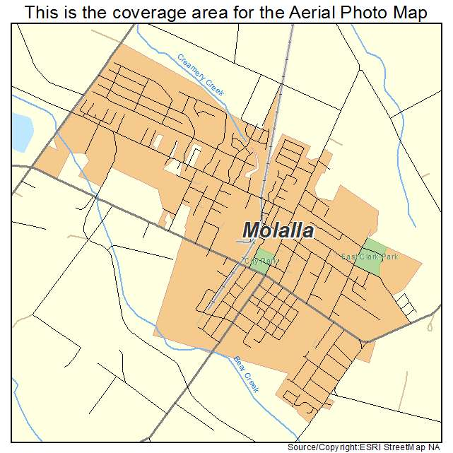 Aerial Photography Map Of Molalla Or Oregon