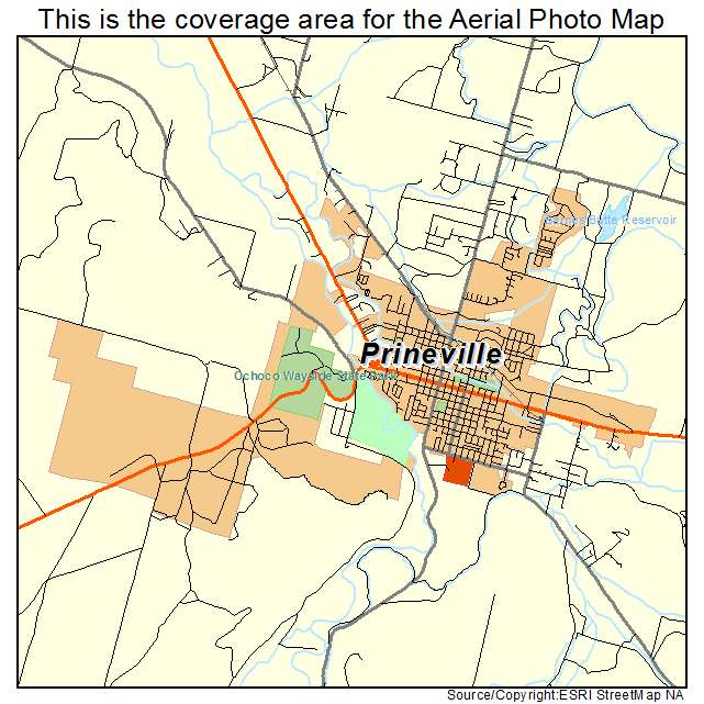 Aerial Photography Map Of Prineville Or Oregon