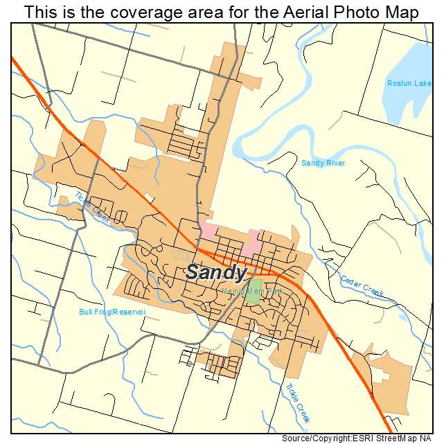 Sandy Or Oregon Aerial Photography Map 2014