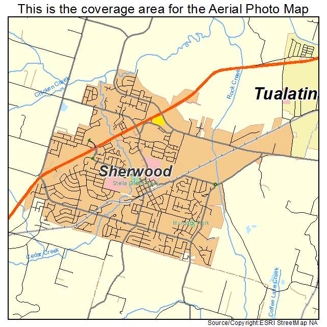 Aerial Photography Map of Sherwood, OR Oregon