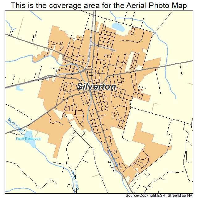 Silverton Oregon Map Aerial Photography Map of Silverton, OR Oregon