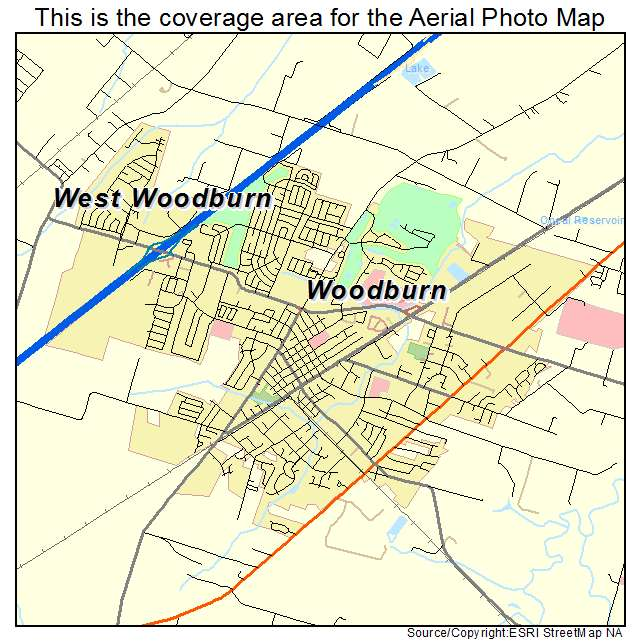 Aerial Photography Map of Woodburn, OR Oregon
