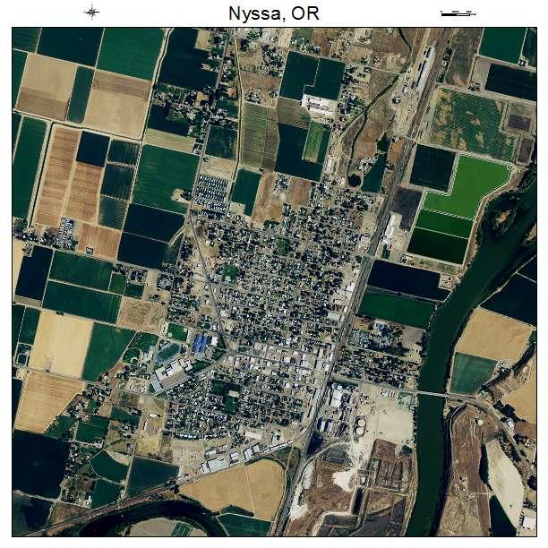 Nyssa Oregon Map Aerial Photography Map of Nyssa, OR Oregon