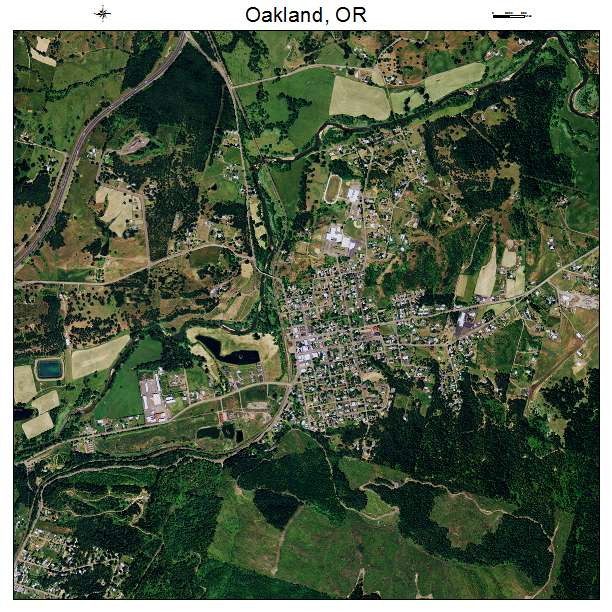 Aerial Photography Map of Oakland OR Oregon