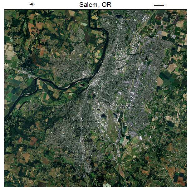 Salem, OR air photo map