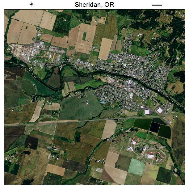 Map Of Sheridan Oregon Aerial Photography Map of Sheridan, OR Oregon