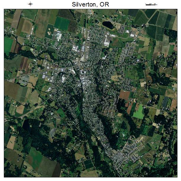 Silverton, OR air photo map