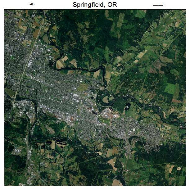 Springfield Oregon: Aerial Photography Map Of Springfield, OR Oregon