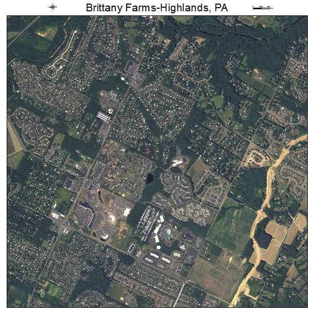 Aerial Photography Map Of Highlands Ranch Co Colorado: Aerial Photography Map Of Brittany Farms Highlands, PA