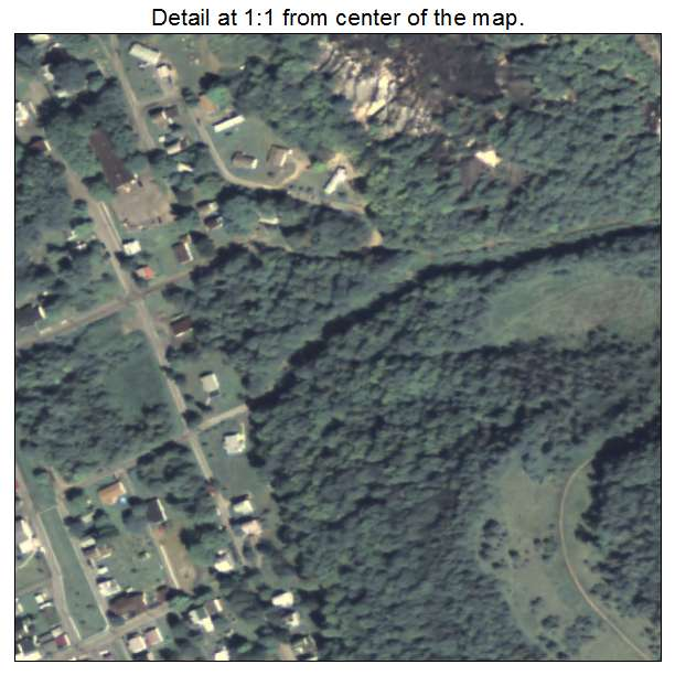 Aerial Photography Map of Coalport, PA Pennsylvania on
