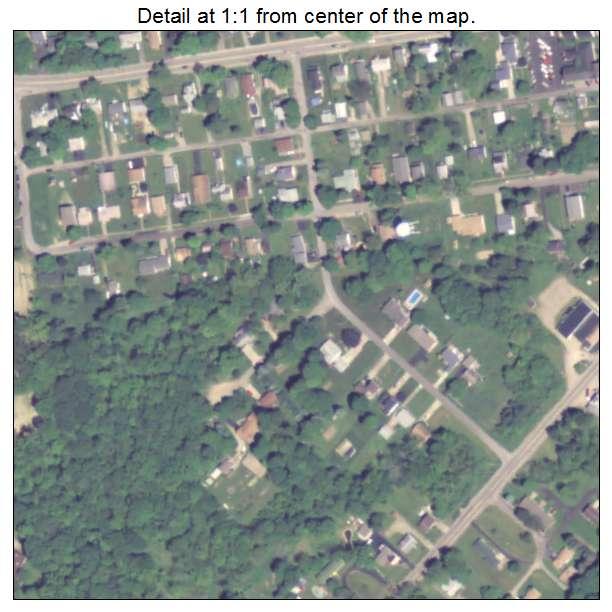 Conneaut Lake, Pennsylvania aerial imagery detail