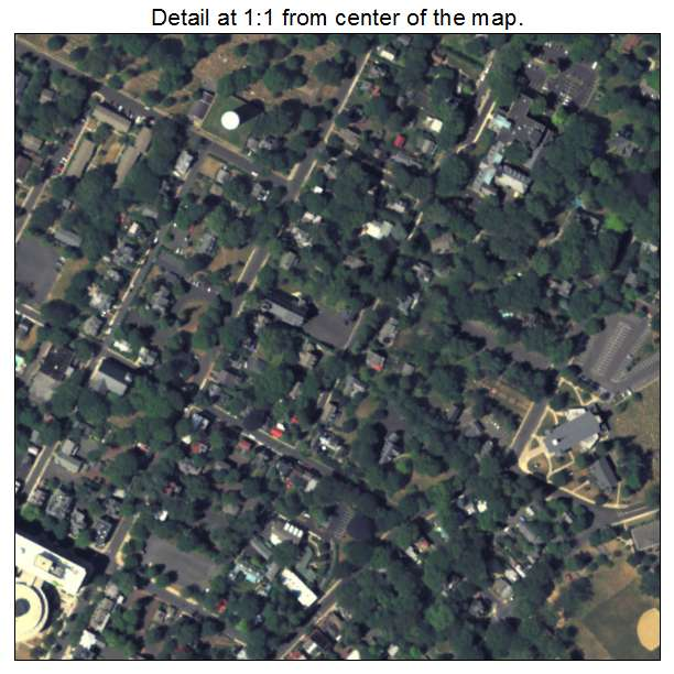 Doylestown, Pennsylvania aerial imagery detail